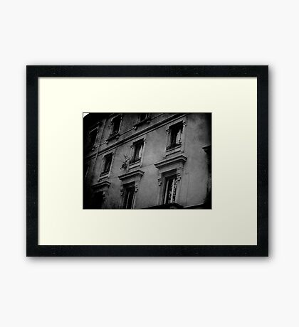 Life, depends on the Angle! Framed Print