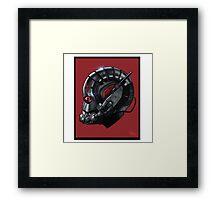 ANT-MAN Helmet Framed Print
