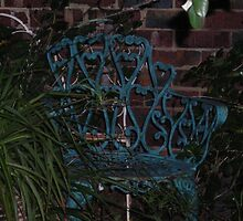 CAST IRON GREEN CHAIR by mando13