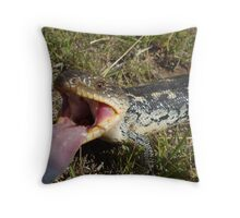 Blotched Blue-tongue Lizard Throw Pillow
