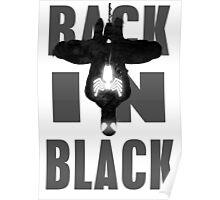 Spiderman -Black suit - splatter art - typographic Poster