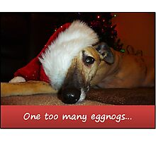 One too many eggnogs... Photographic Print