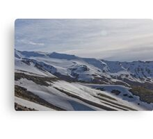 White Mountainside Canvas Print