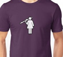 Girl with RPG Unisex T-Shirt