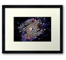 Balance of Life and Death Framed Print