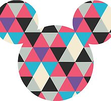 Mickey/Minnie head- geometric triangle pattern by nemofish