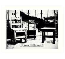 Take a litle seat - antik Art Print