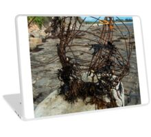 Beach abstract sculpture Laptop Skin