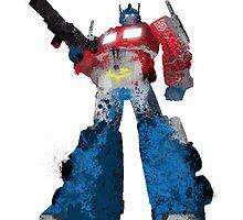 Optimus Prime - Splatter Art by Firenutdesign