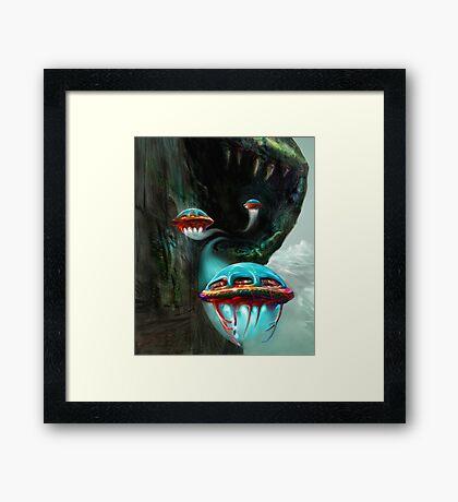 Leaving Snake Mountain Framed Print