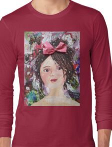 Inner Girly Girl - Bows and Butterflies Long Sleeve T-Shirt