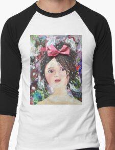 Inner Girly Girl - Bows and Butterflies Men's Baseball ¾ T-Shirt