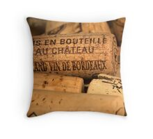 Wine bottle cork from Bordeaux Throw Pillow