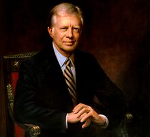 President Jimmy Carter Painting by warishellstore