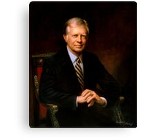President Jimmy Carter Painting Canvas Print