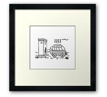 TORTOISE SMASHER Framed Print