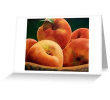Peach Basket Greeting Card
