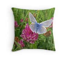 Little Beau Blue Throw Pillow