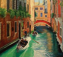 Venetian Gondoliers by Terry Huey