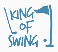 King of SWING with golf ball and club by jazzydevil