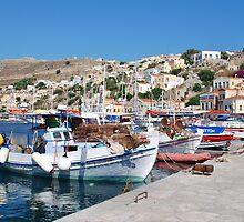 Yialos harbour, Symi by David Fowler