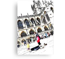 Busking at Bath Abbey Canvas Print