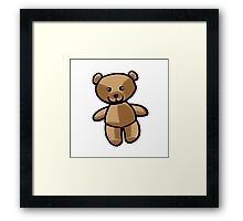 Cute brown teddy bear toy doll Framed Print