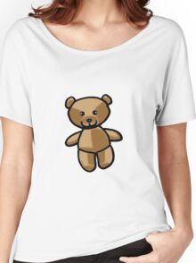 Cute brown teddy bear toy doll Women's Relaxed Fit T-Shirt