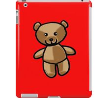 Cute brown teddy bear toy doll iPad Case/Skin