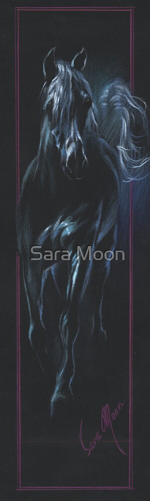 """Black Horse 4"" by Sara Moon"