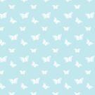 Fluttering Butterflies on Sky Blue by ThistleandFox