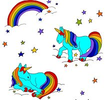 Rainbow magic unicorns stardust clouds and dreams yay! by LauraLeeDesigns
