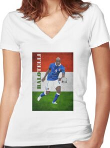 BALOTELLI-ITALIA Women's Fitted V-Neck T-Shirt