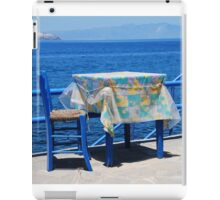 Taverna table, Nisyros iPad Case/Skin