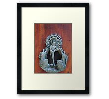 knock knock! who is there? Casanova Framed Print