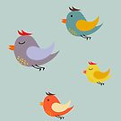 Cute happy birds by mikath