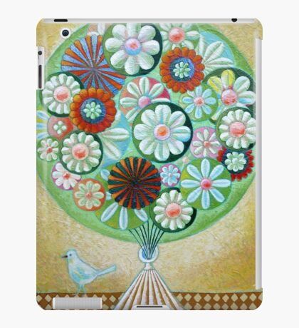 Green Flowers iPad Case/Skin