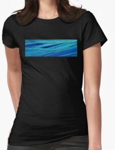 blue structures Womens Fitted T-Shirt