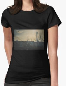 """There is a crack in everything. That's how the light gets in.""  ~ Leonard Cohen Womens Fitted T-Shirt"
