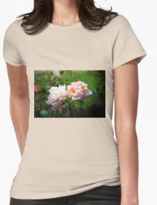 Rose Garden Womens Fitted T-Shirt
