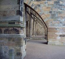 Arches at the side of the front entrance to Dunfermline Abbey by biddumy