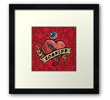 I Love Zombies... with Blood Framed Print