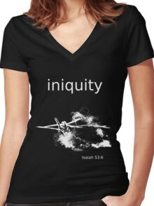 Iniquity Tee Women's Fitted V-Neck T-Shirt
