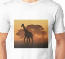 Giraffe - African Wildlife Background - Triangles in Nature Unisex T-Shirt