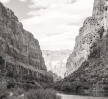 The Canyon in Black and White Sticker