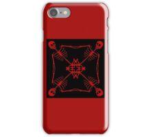 Mutated Pirate flag- red iPhone Case/Skin