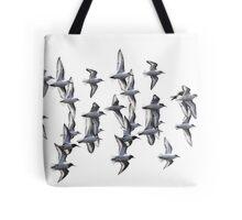 Sanderlings and Dunlins in Flight Tote Bag