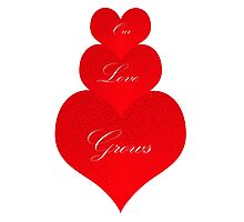 Our Love Grows Photographic Print