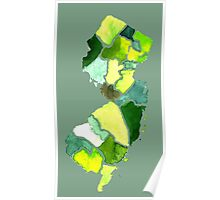 Jersey State Watercolor Poster