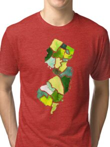 Jersey State Watercolor Tri-blend T-Shirt